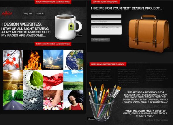 图片展示网页模板