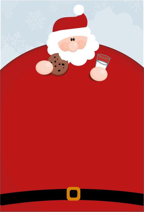 肥胖的圣诞老人矢量素材
