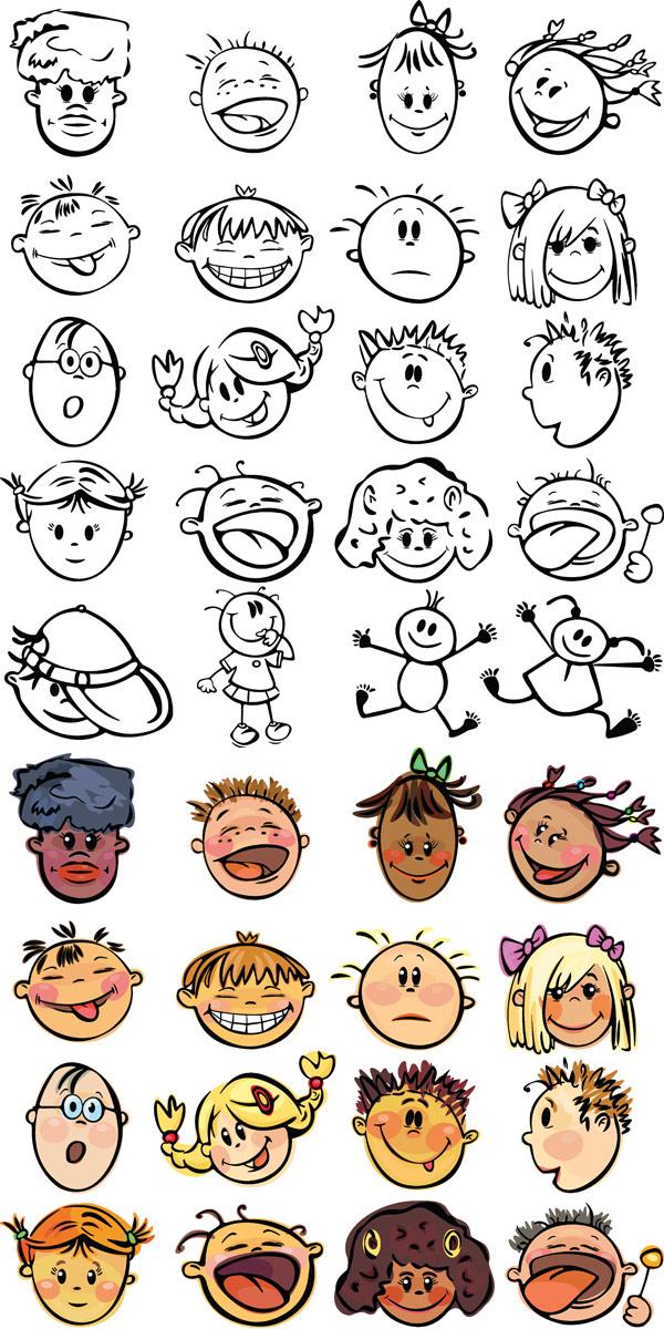 可爱素材通矢量_表情卡通角色-表情中国_素材在哪能买到的卡包图片
