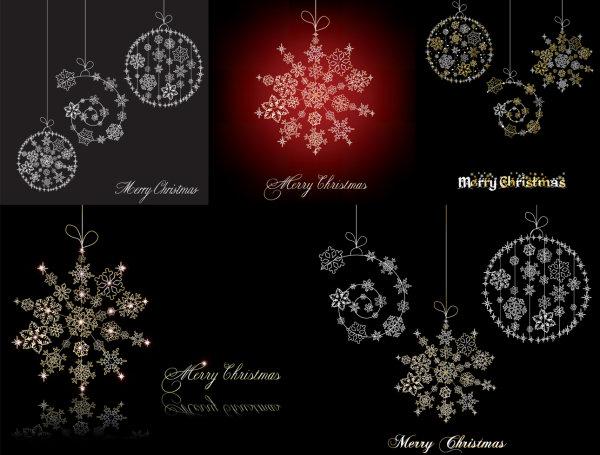 圣诞节雪花挂饰