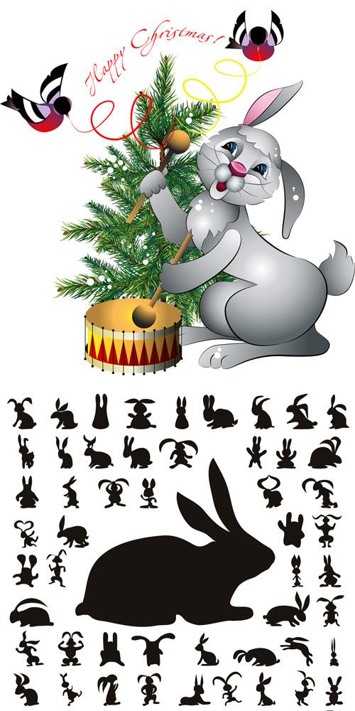 疯狂动物城兔子剪影