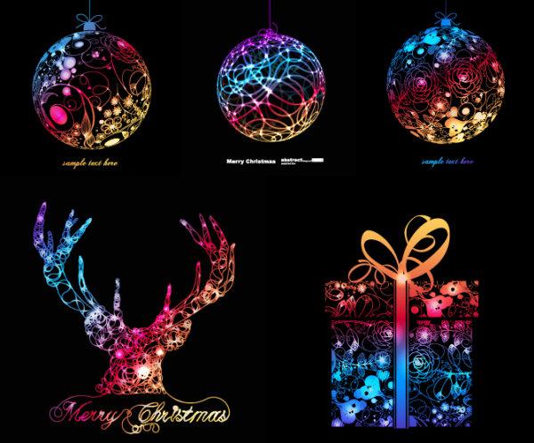 幻彩圣诞节图形图片