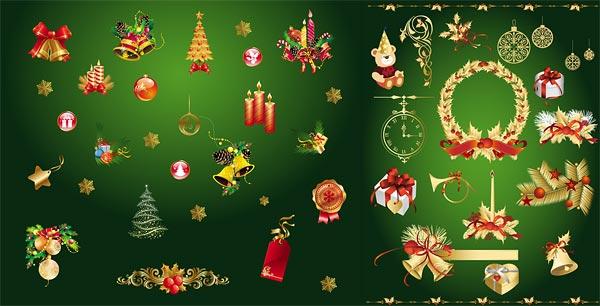 金色圣诞节装饰