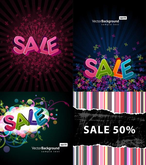 绚丽的字体设计海报矢量素材,绚丽,立体,3d,字体,英文,设计,海报