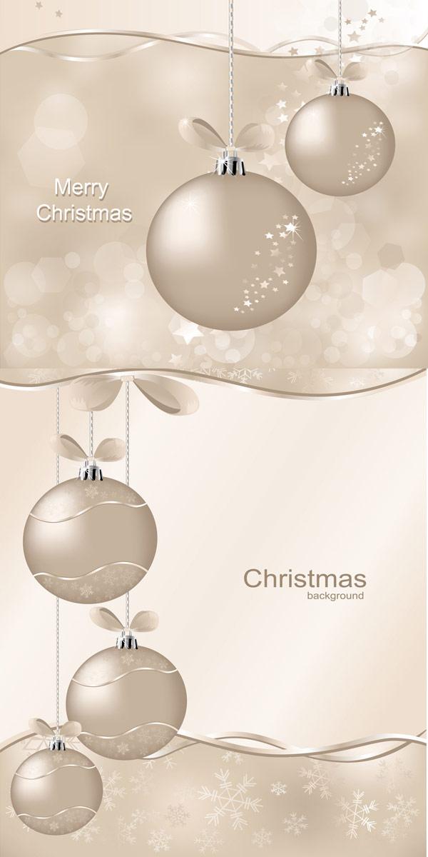 圣诞节彩球矢量