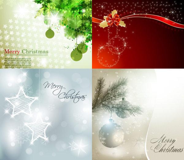 华丽的圣诞背景