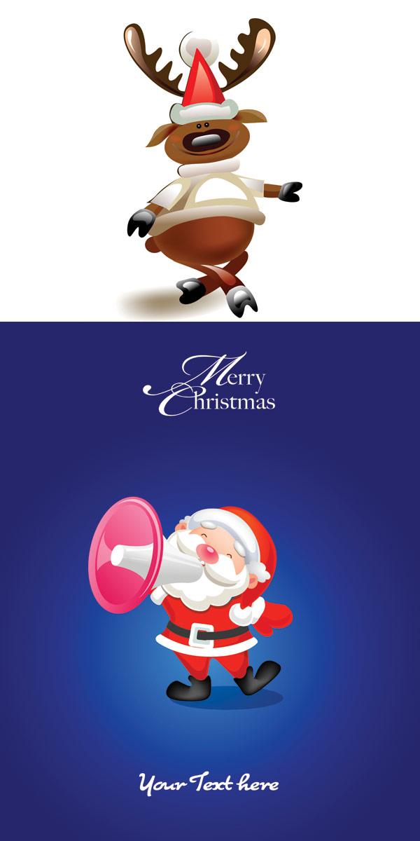 麋鹿与圣诞老