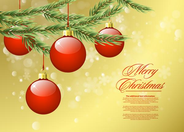 华丽圣诞节背景2