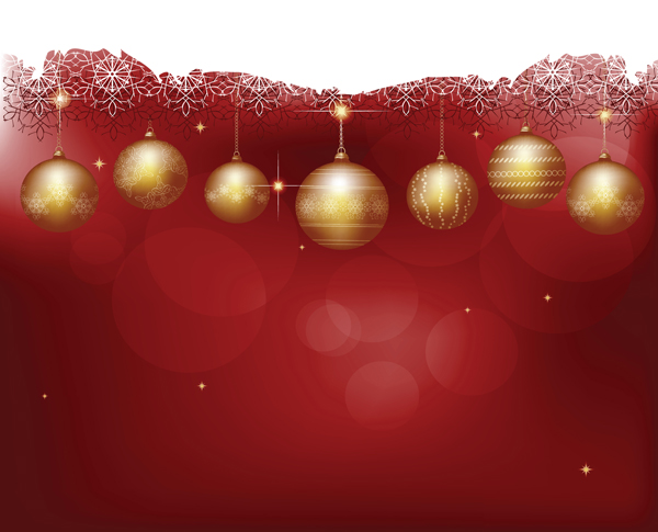 圣诞节彩球背景