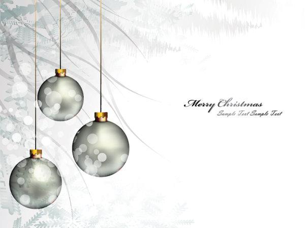 圣诞彩球背景01