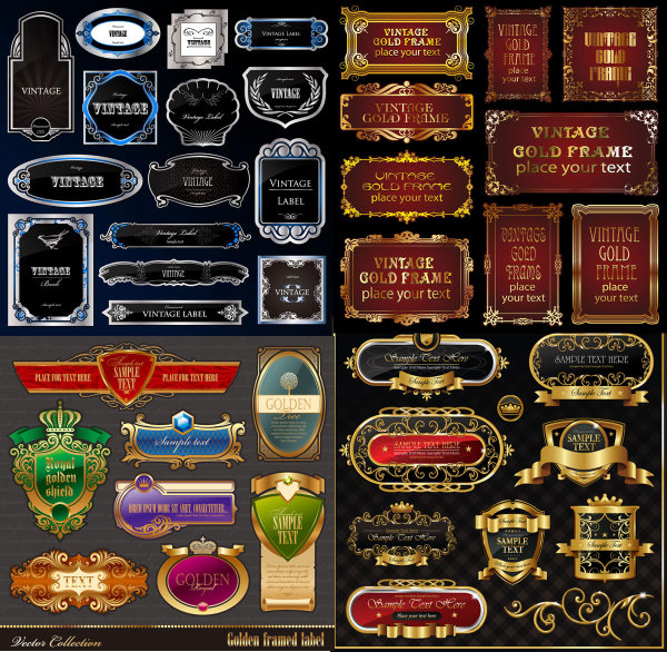 欧式,标签,瓶贴,边框,底纹,花纹,方格,花边,金属,字迹,皇冠,底纹,纹样