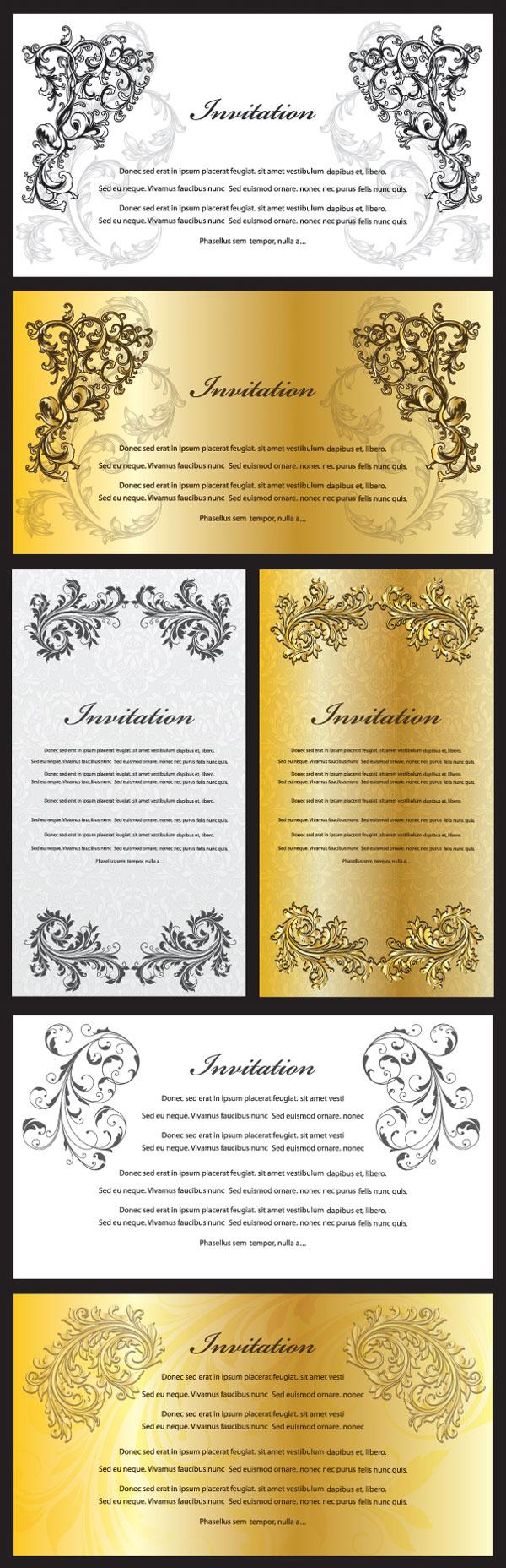 华丽的欧式花纹证书模板矢量素材,欧式,华丽,花纹,证书,模板,底纹