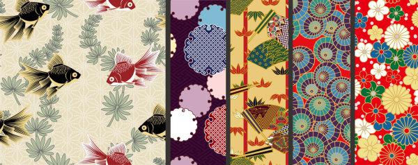日式花纹背景