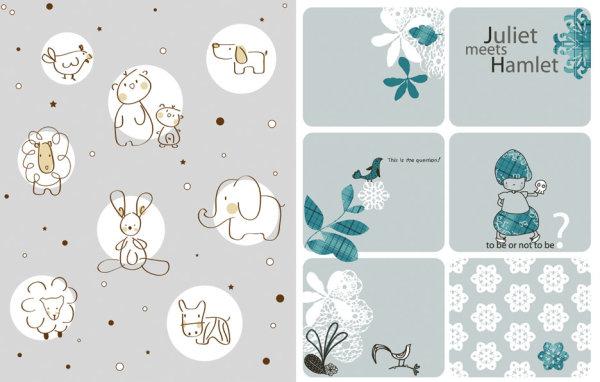 关键词: 可爱卡通矢量素材,卡通,可爱,动物,图案,小鸡,小熊,绵羊
