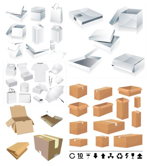 矢量素材,包装盒,纸箱