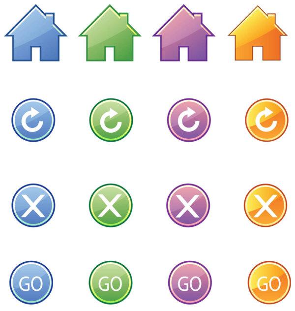 关键词: 精美的图标按钮矢量素材,精美,图标,返回,关闭,继续,小房子图片
