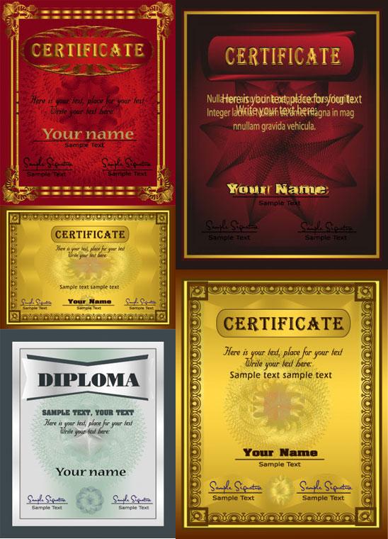华丽的欧式毕业证模板矢量素材,华丽,欧式,毕业证,模板,花边,证书,纹样,花纹,花边,底纹,矢量素材,EPS格式