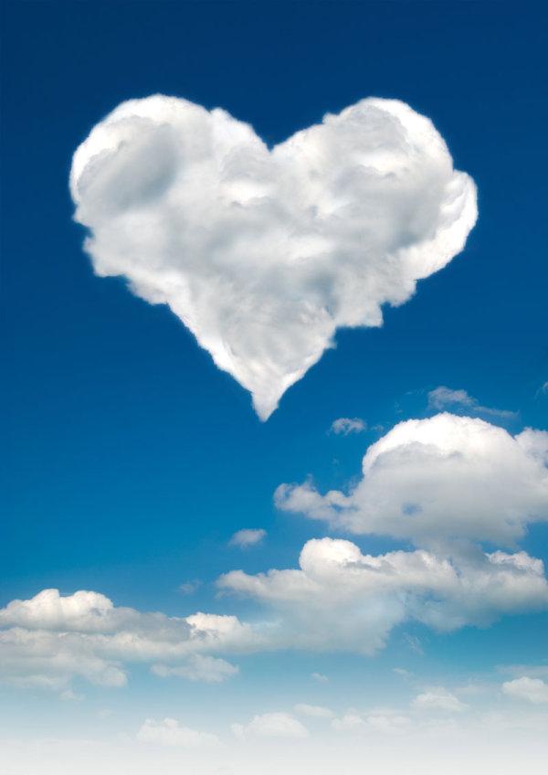 Romantic heart-shaped cloud 2