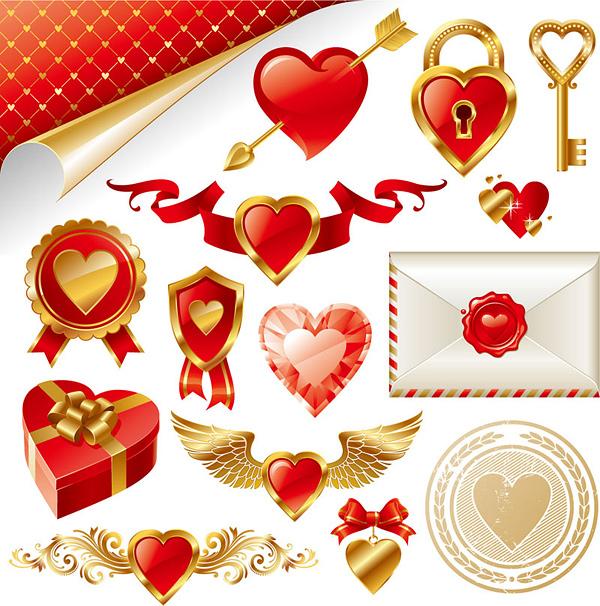 金色爱情元素