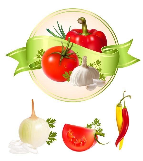 几款蔬菜矢量素材,蔬菜
