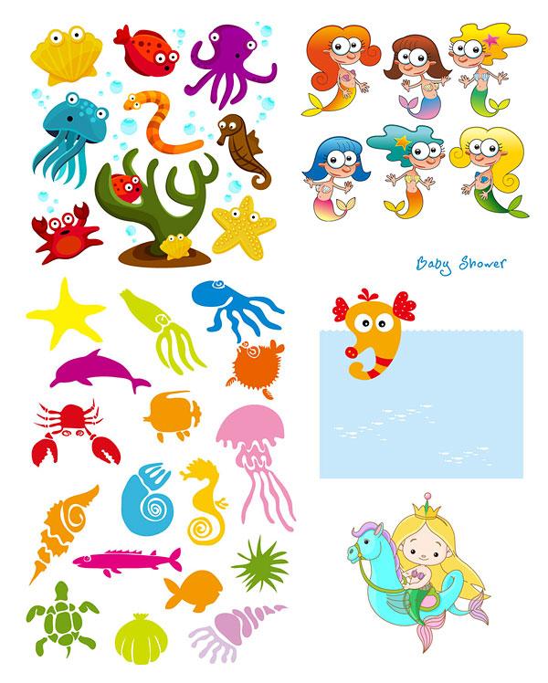 0 点 关键词: 卡通海洋生物矢量素材,卡通,可爱,海洋,大海,鱼类