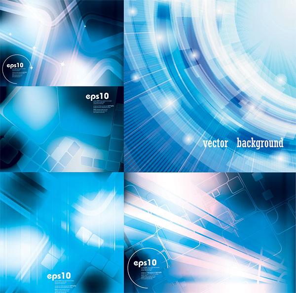 点 关键词: 蓝色科技感背景矢量素材,科技感,动感线条,边框,背景,光线