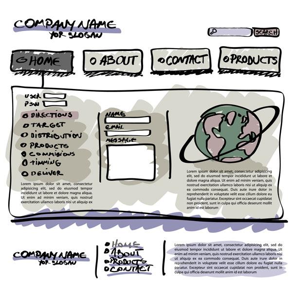 网页设计手绘稿