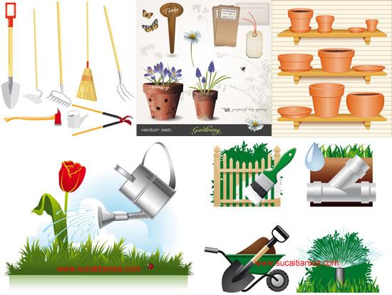 0 点 关键词: 园艺题材矢量素材,园艺,花盆,鲜花,木牌,蝴蝶,花朵