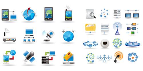 蓝色科技图标图片