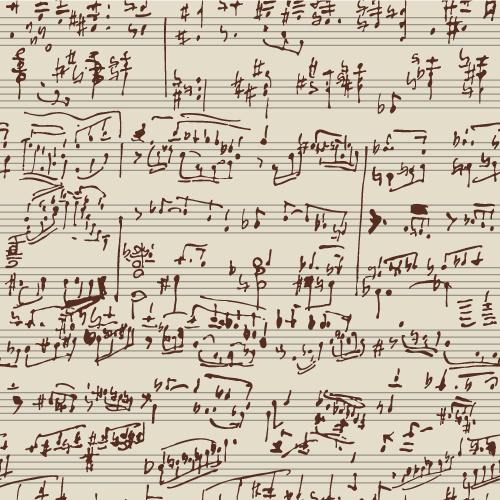 手写乐谱草稿