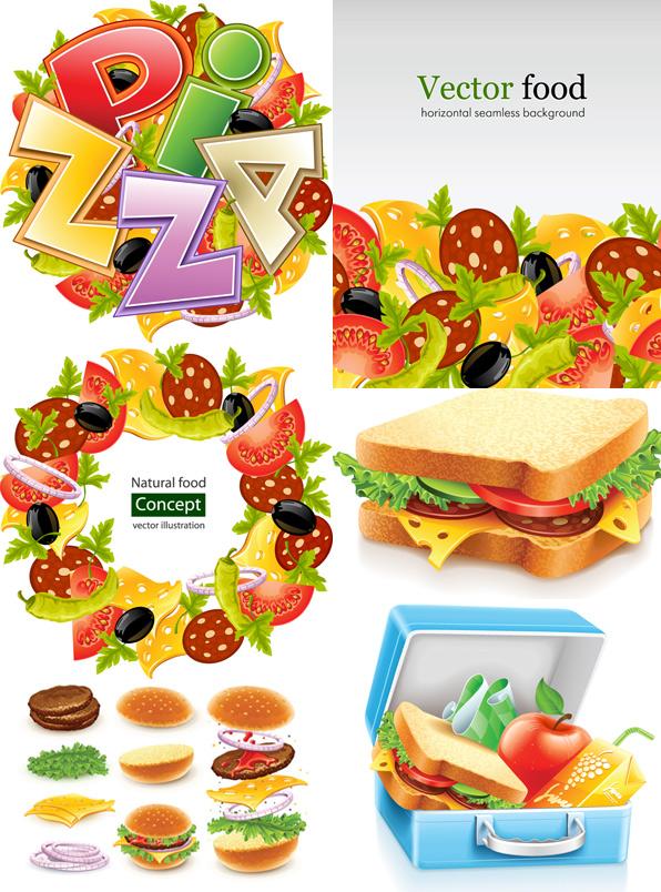 快餐食物 素材中国sccnn Com