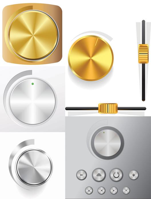 素材分类: 矢量电器所需点数: 0 点 关键词: 音量旋钮矢量素材,金色