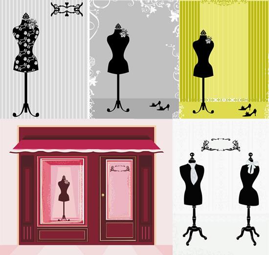 素材分类: 矢量服饰所需点数: 0 点 关键词: 衣架模特黑白剪影矢量