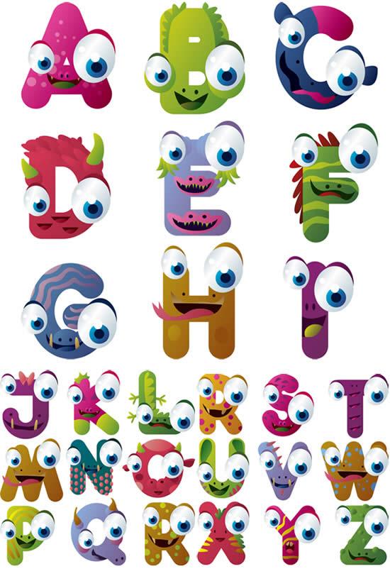 素材分类: 矢量艺术字所需点数: 0 点 关键词: 卡通动物形象英文字母
