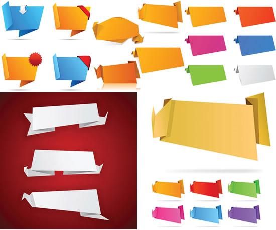 装饰折纸艺术矢量素材