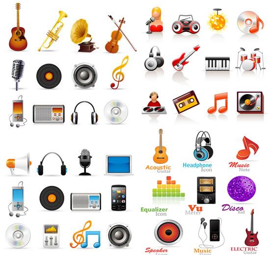 0 点 关键词: 音乐元素图标矢量素材,,音乐图标,乐器,吉他,小提琴