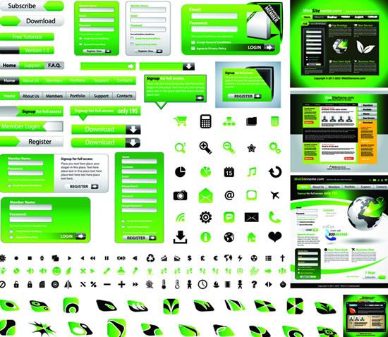 绿色网页界面