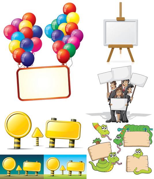 0 点 关键词: 广告牌矢量素材,广告牌,卡通,动物,吊牌,蛇,木板,气球