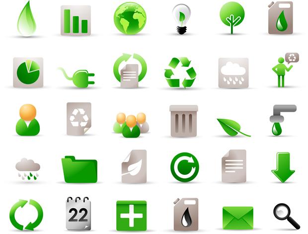 环保/绿色生活环保图标