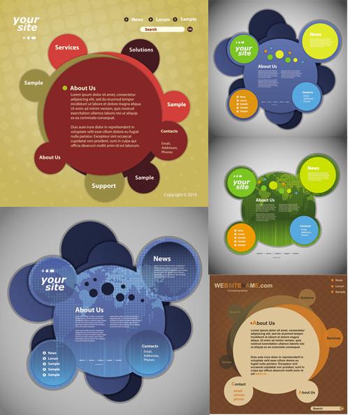 Round web templates