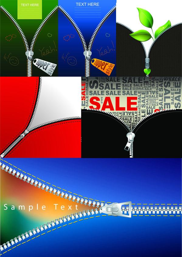 素材分类: 平面广告所需点数: 0 点 关键词: 创意拉链海报矢量图
