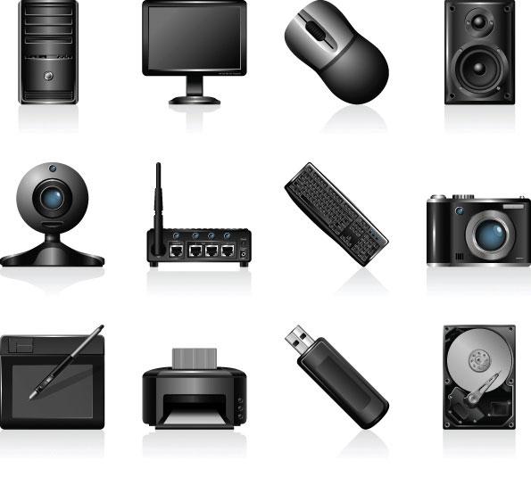 0 点 关键词: 灰色电脑图标矢量素材,电脑,外设,主机,显示器,鼠标