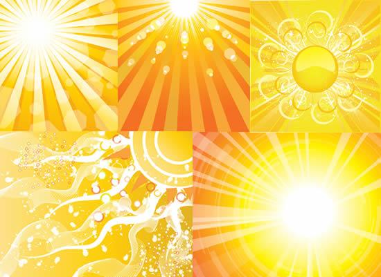 太阳光芒光束背景