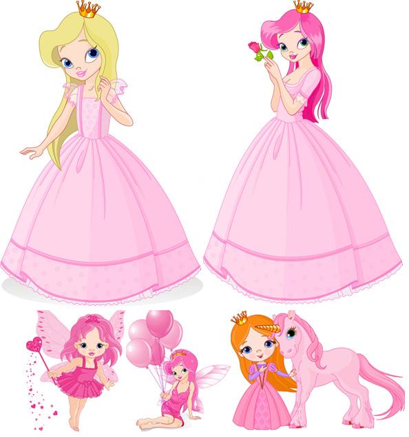 可爱卡通公主矢量图,可爱,卡通公主,矢量,eps格式文件
