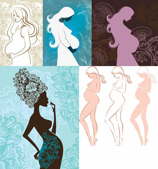 怀孕女性剪影