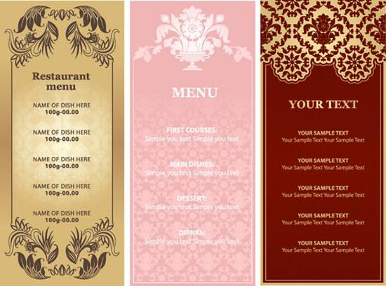 欧式餐厅菜谱