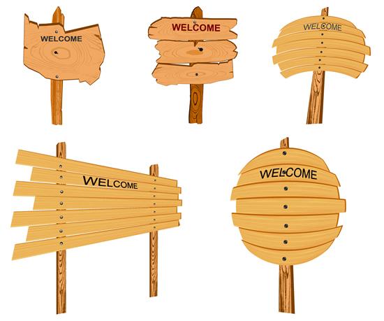 木质WELCOME标志