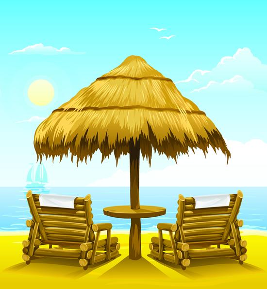 卡通沙滩休闲椅