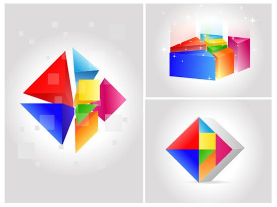 立体几何图形背景