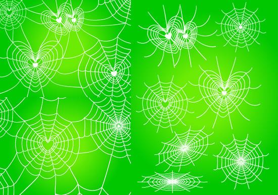 蜘蛛网绿色背景